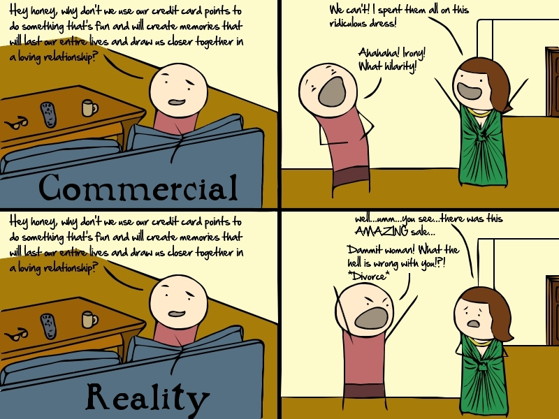 Commercial Vs. Reality